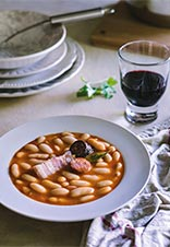Fabada asturiana en olla exprés