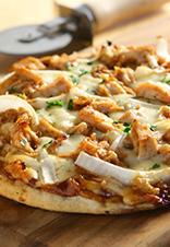 Pizza de pollo a la barbacoa