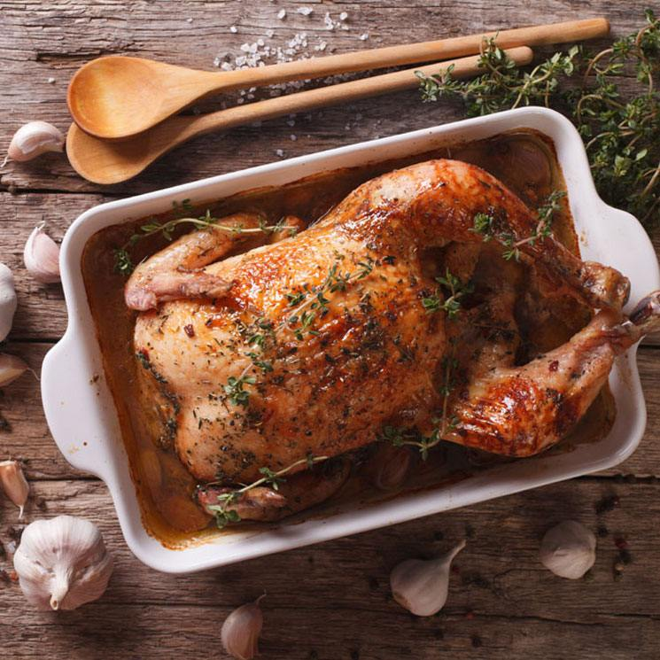 Pollo asado al ajo y tomillo