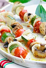 Tortilla de verduras cuadrada
