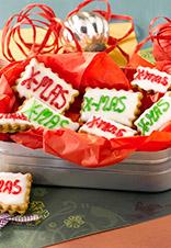 Galletas de Navidad rellenas de mermelada