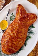 'Koulibiac' de salmón
