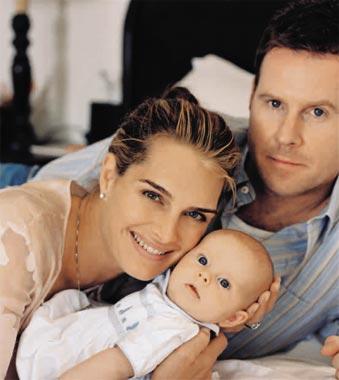 Brooke Shields nos presenta a su hija, Rowan, de tres meses