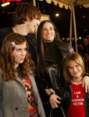 Navidad en familia para Demi Moore y Ashton Kutcher