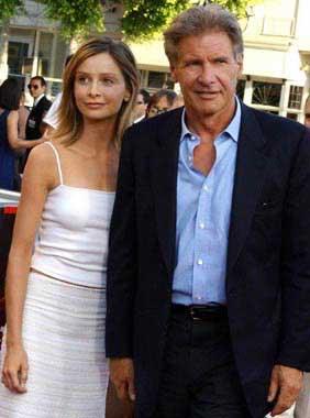 La relación entre los actores Harrison Ford y Calista Flockhart, ¿en crisis?