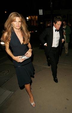 Hugh Grant celebra junto a Jemima Goldsmith su 44º cumpleaños