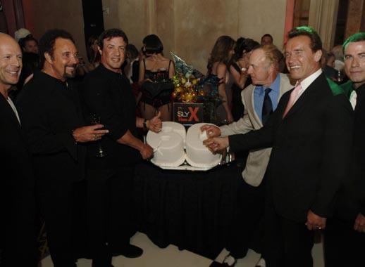 Los más duros del cine felicitan a Silvester Stallone en su sesenta cumpleaños