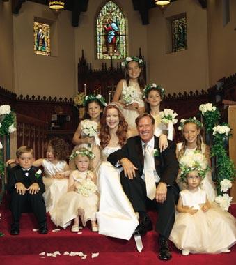 La boda de Marcia Cross con el financiero Tom Mahoney en California