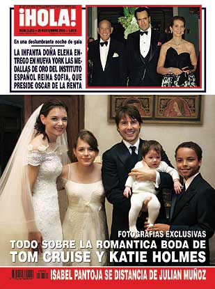 Todo sobre la romántica boda de Tom Cruise y Katie Holmes en la revista ¡Hola! de esta semana