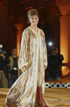 Susan Sarandon, con un lujoso caftán, la 'reina' del Festival de Marrakech