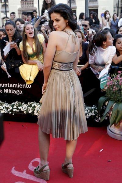 Ellas ponen el 'glamour' sobre la alfombra roja del Festival de Málaga