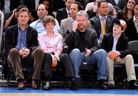 Liam Neeson recupera las ganas de vivir junto a sus hijos tras la muerte de su esposa, Natasha Richardson