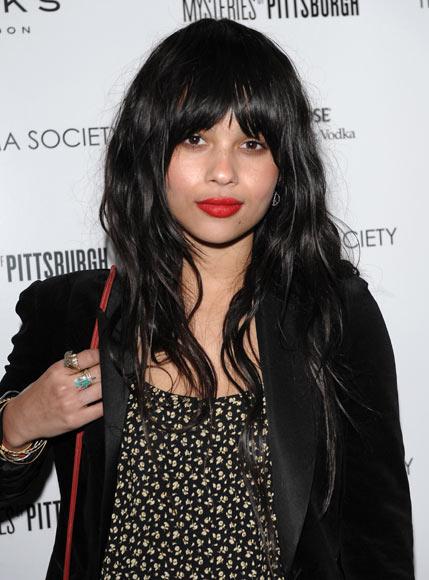 Zoë Kravitz, la hija de Lenny Kravitz y Lisa Bonet, sigue los pasos de sus famosos padres