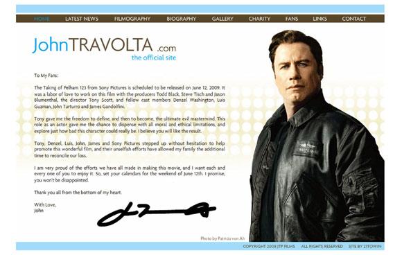 John Travolta escribe una carta para agradecer a sus compañeros el apoyo tras la muerte de su hijo