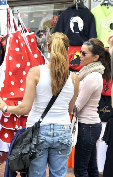 Eva Longoria, un alocado día sin Tony Parker en Marbella