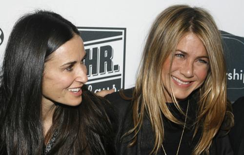 Jennifer Aniston, Demi Moore y Ashton Kutcher celebran su triunfo en Broadway