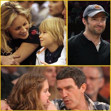 DiCaprio, Andy García, Sharon Stone, Hugh Jackman o Dustin Hoffman, locos por la NBA