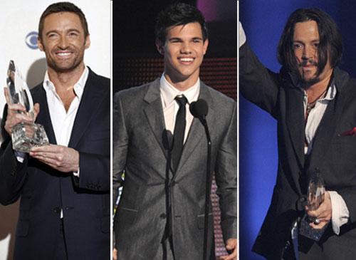Johnny Depp, Sandra Bullock, Taylor Lautner y Hugh Jackman triunfan entre los internautas