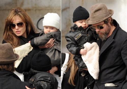 Angelina Jolie y Brad Pitt comparten un almuerzo de lujo con sus hijos Knox y Vivienne en el Gran Canal de Venecia