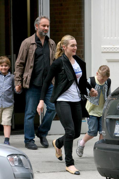 Amigable reencuentro entre Kate Winslet y Sam Mendes por el bien de sus hijos