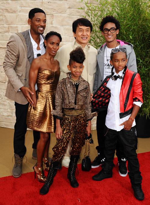 'clan Smith' se reúne en el estreno de 'Karate Kid' en Los Ángeles
