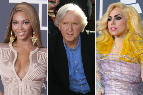 Beyoncé, James Cameron y Lady Gaga están en segunda, tercera y  cuarta posición respectivamente