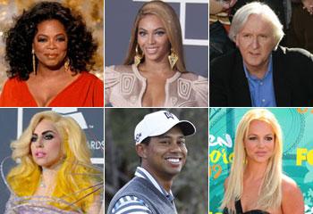 ¿Quiénes son las diez celebridades más poderosas del mundo?