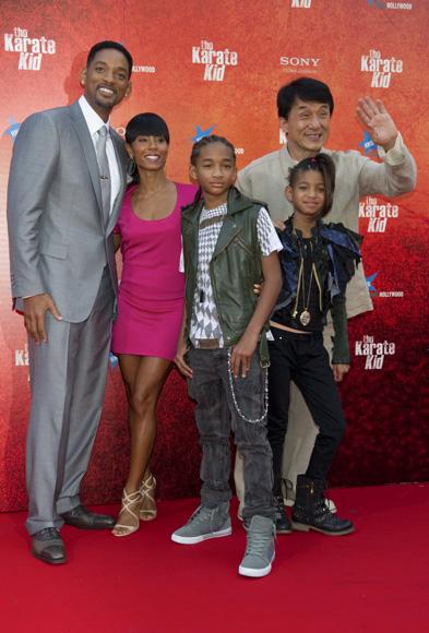 La poderosa familia de Will Smith reúne en Madrid a numerosos rostros conocidos en el estreno de 'Karate Kid'