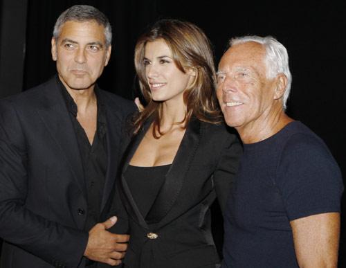 George Clooney y Elisabetta Canalis, una pareja de moda y a la moda