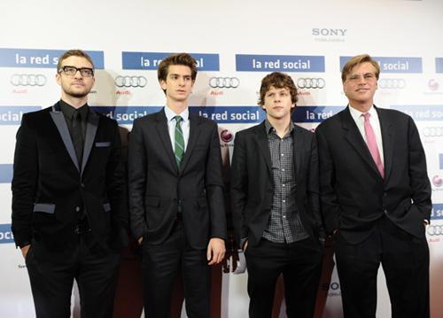 Entrevistamos a Justin Timberlake y a sus compañeros de 'La red social' en el preestreno de la película en Madrid