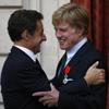 Nicolás Sarkozy aplaude los logros de Robert Redford y le convierte en Caballero de la Legión de Honor francesa