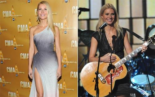 Gwyneth Paltrow pone a decenas de cantantes en pie interpretando un tema 'country' en directo