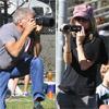 Harrison Ford y Calista Flockhart, dos paparazzi en busca de la mejor imagen para el álbum familiar