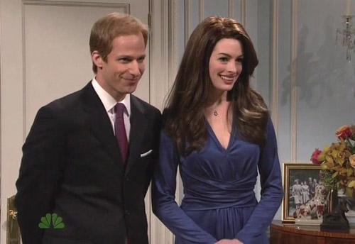 Anne Hathaway parodia a Kate Middleton en un divertido sketch para la televisión