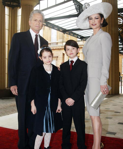 Catherine Zeta Jones y Michael Douglas