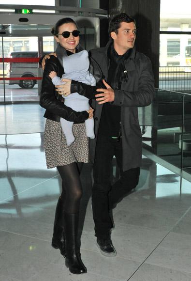 Orlando Bloom y Miranda Kerr, inseparables de su pequeño Flynn