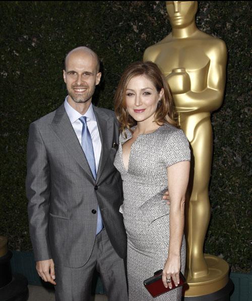 Edoardo Ponti y su mujer, Sasha Alexander