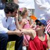 El romántico y patriótico día de Ben Affleck con las tres mujeres de su vida