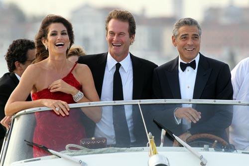 George Clooney con Cindy Crawford y Rande Gerber
