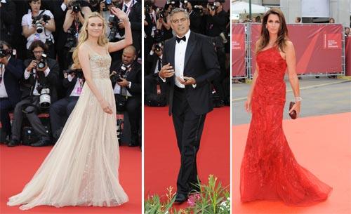 Diane Kruger, George Clooney y Cindy Crawford