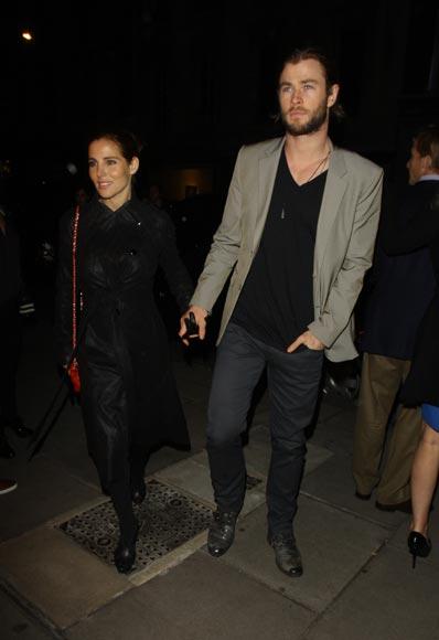 Elsa Pataky y Chris Hemsworth, romántico reencuentro en Londres