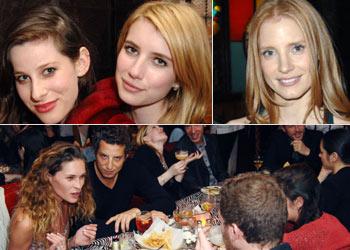 Risas, bromas, comida 'tex mex' y jóvenes promesas de Hollywood se dan cita en una divertida fiesta previa a los Globo de Oro