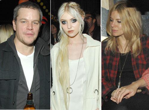 ¿Qué hacían juntos en Nueva York Matt Damon, Taylor Momsen y Sienna Miller?