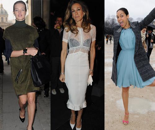 Llueva, nieve o haga sol, París es París y su moda una adicción para las actrices de Hollywood
