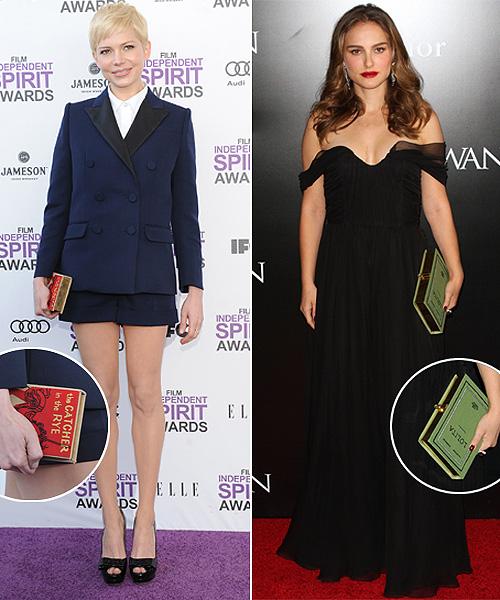 Michelle Williams, Natalie Portman, Tilda Swinton... se apuntan a la moda del 'bolso-libro'