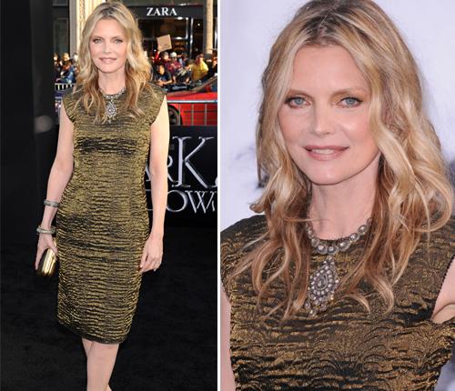 ¿Seguro que no son vampiros? Michelle Pfeiffer, la mujer sin edad, y el misterioso Johnny Depp estrenan 'Sombras Tenebrosas'