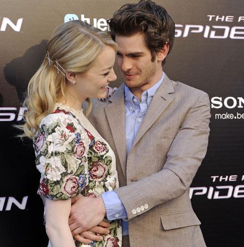 Emma Stone y Andrew Garfield, química en estado puro en la premier de Spiderman en Madrid