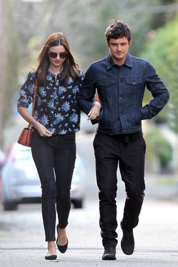 Orlando Bloom y Miranda Kerr, paseo romántico y almuerzo en familia en la ciudad de Sidney