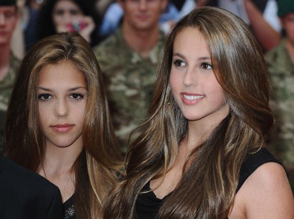 Las hijas de Sylvester Stallone.