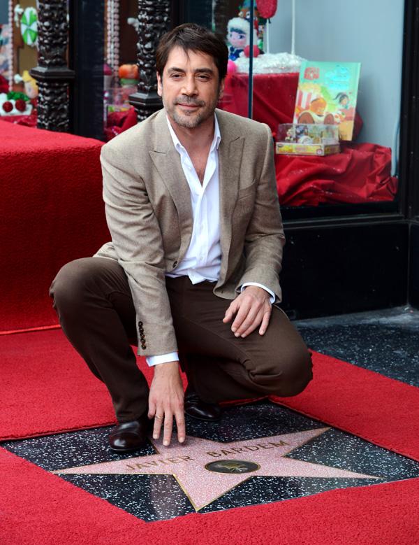 Javier Bardem ya tiene su estrella: 'Es una preciosa coincidencia que esté junto a la de Penélope'